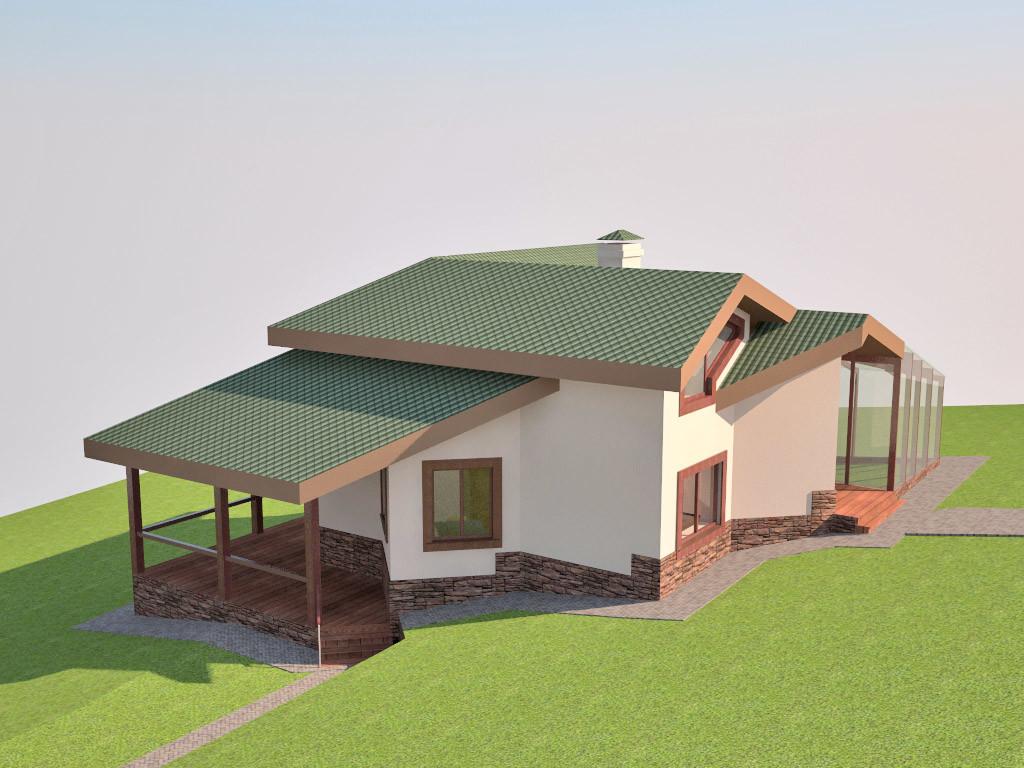Эко-дом из соломенных блоков